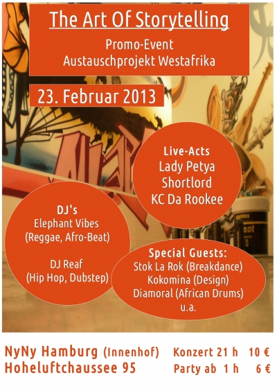 KC Da Rookee – Back In Hamburg, Germany, Performing at The Art of Story Telling, Echange-Culturel, Hip Hop Theatre February 23rd 2013
